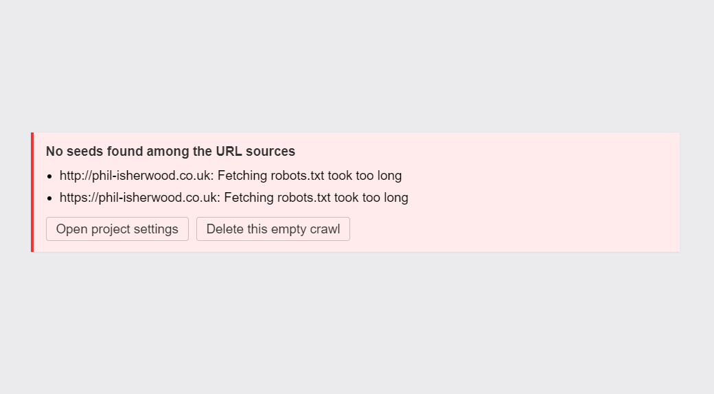 Fetching robots.txt took too long - Ahrefs Site Audit Troubleshooting
